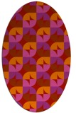 rug #551589 | oval red circles rug