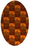 rug #551593 | oval red-orange circles rug