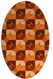 rug #551597 | oval red-orange circles rug