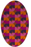 rug #551601 | oval red-orange retro rug