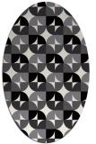 rug #551609 | oval black rug