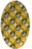 rug #551625 | oval yellow circles rug