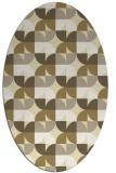 rug #551629 | oval yellow circles rug