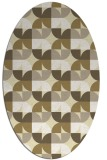 rug #551629 | oval white circles rug