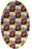 rug #551637 | oval yellow rug