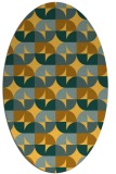 rug #551641 | oval light-orange retro rug