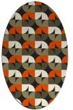 rug #551645   oval black circles rug
