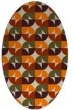 rug #551653 | oval beige circles rug