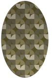 rug #551669 | oval light-green popular rug