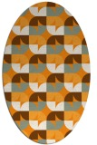 rug #551681   oval light-orange retro rug