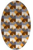 rug #551685 | oval light-orange retro rug