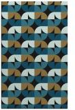 rug #551709 |  brown circles rug