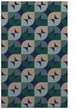 rug #551721 |  blue circles rug