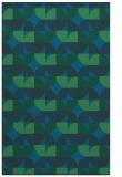 rug #551769 |  blue circles rug