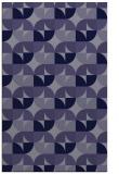 rug #551777 |  blue-violet circles rug
