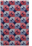rug #551781 |  pink retro rug