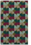 rug #551809 |  mid-brown circles rug