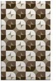 rug #551829 |  mid-brown circles rug
