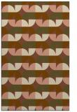 rug #551833 |  brown retro rug