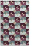 rug #551845 |  pink retro rug