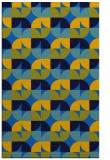 rug #551857    blue retro rug