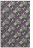 rug #551869    purple circles rug