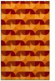 rug #551877 |  red-orange retro rug