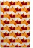 rug #551881 |  orange circles rug
