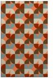rug #551885 |  orange retro rug