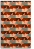 rug #551889 |  red-orange circles rug