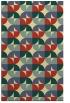 rug #551893 |  yellow retro rug