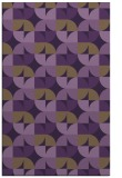 rug #551921 |  purple retro rug