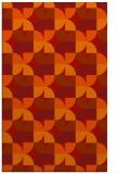 rug #551933 |  orange retro rug