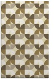 rug #551981 |  yellow retro rug