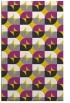 rug #551989 |  yellow retro rug
