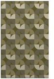 rug #552021    light-green retro rug