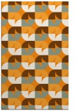 rug #552033 |  light-orange retro rug