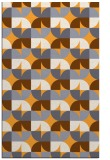 rug #552037 |  light-orange circles rug