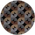 rug #552049   round black retro rug