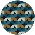 rug #552061 | round mid-brown circles rug