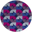 rug #552069 | round pink retro rug