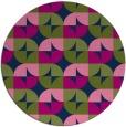rug #552077 | round green rug