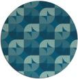 rug #552091 | round retro rug
