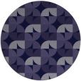 rug #552125 | round blue-violet retro rug