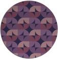 rug #552137 | round purple retro rug