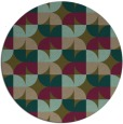 rug #552161 | round mid-brown retro rug