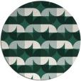 rug #552173 | round green circles rug