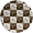 rug #552181 | round mid-brown rug