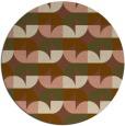 rug #552185   round brown retro rug