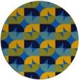 rug #552209 | round blue retro rug